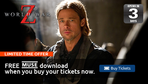 World War Z Tickets and Free Muse Song Download