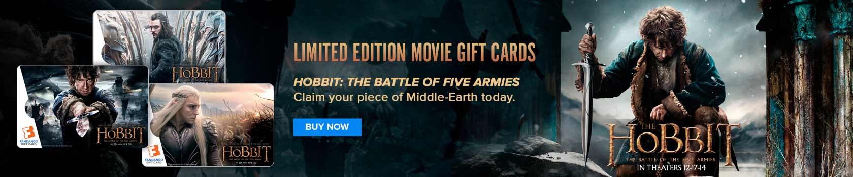 Hobbit 3 Gift Card