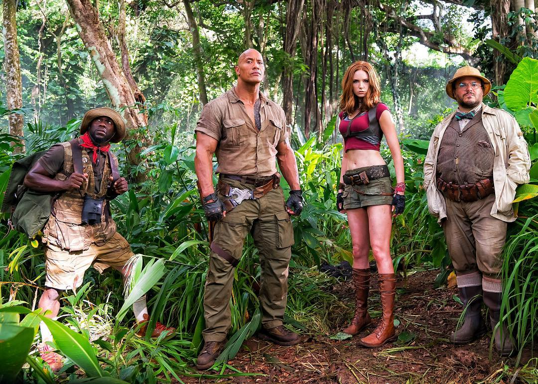 Jumanji The Rock Karen Gillan