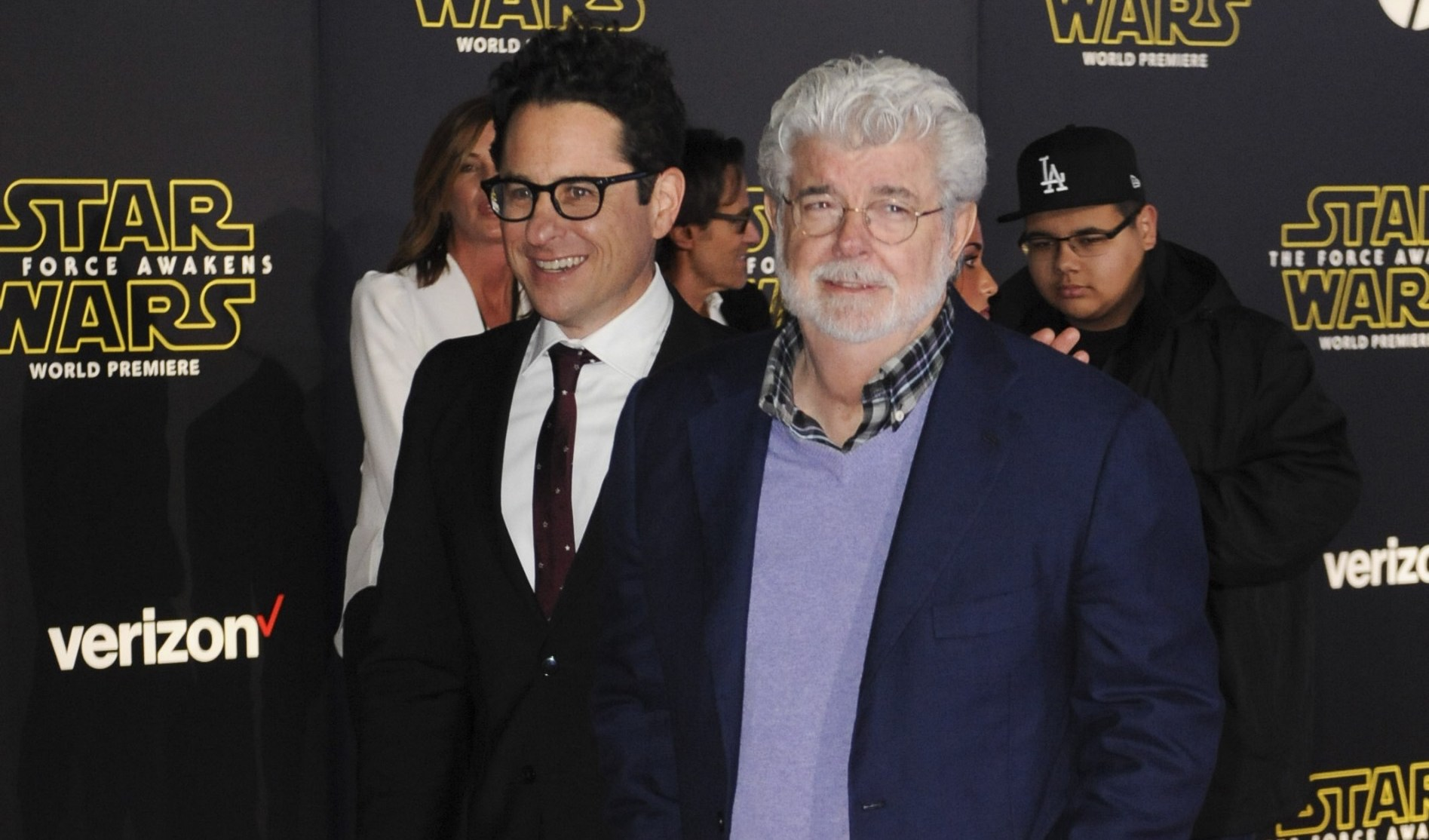 J.J. Abrams and George Lucas