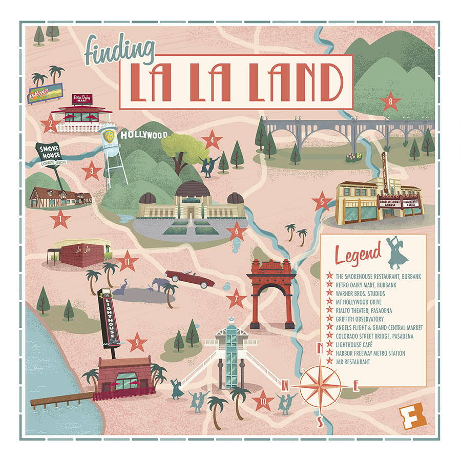 Mapped See The L A Locations Where La La Land Was