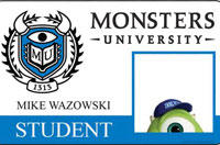 New 'Monsters University' Character Posters and Student ID Cards