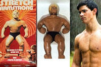 Taylor Lautner is Stretch Armstrong