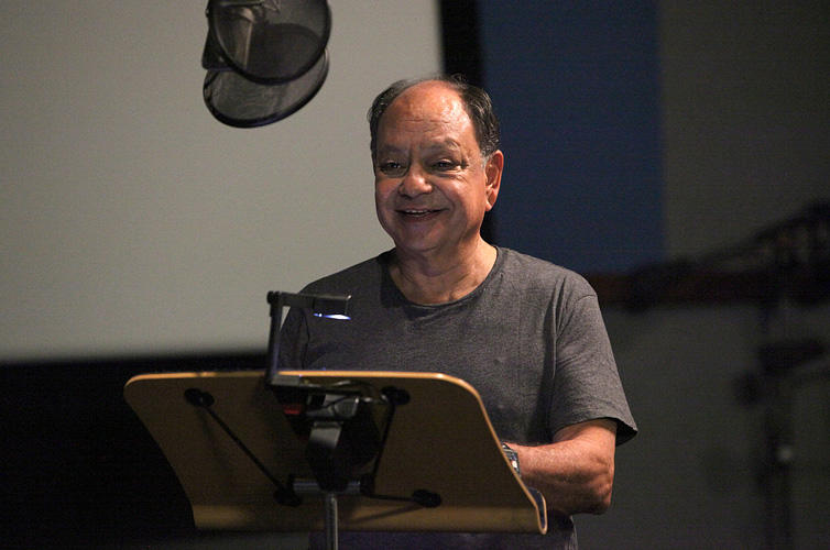 Cheech Marin on the set of