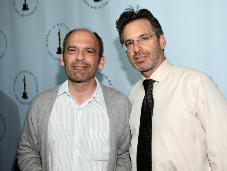 John Mankiewicz and Robert Carradine at the AMPAS' centenial salute celebration of Joseph L. Mankiewicz.