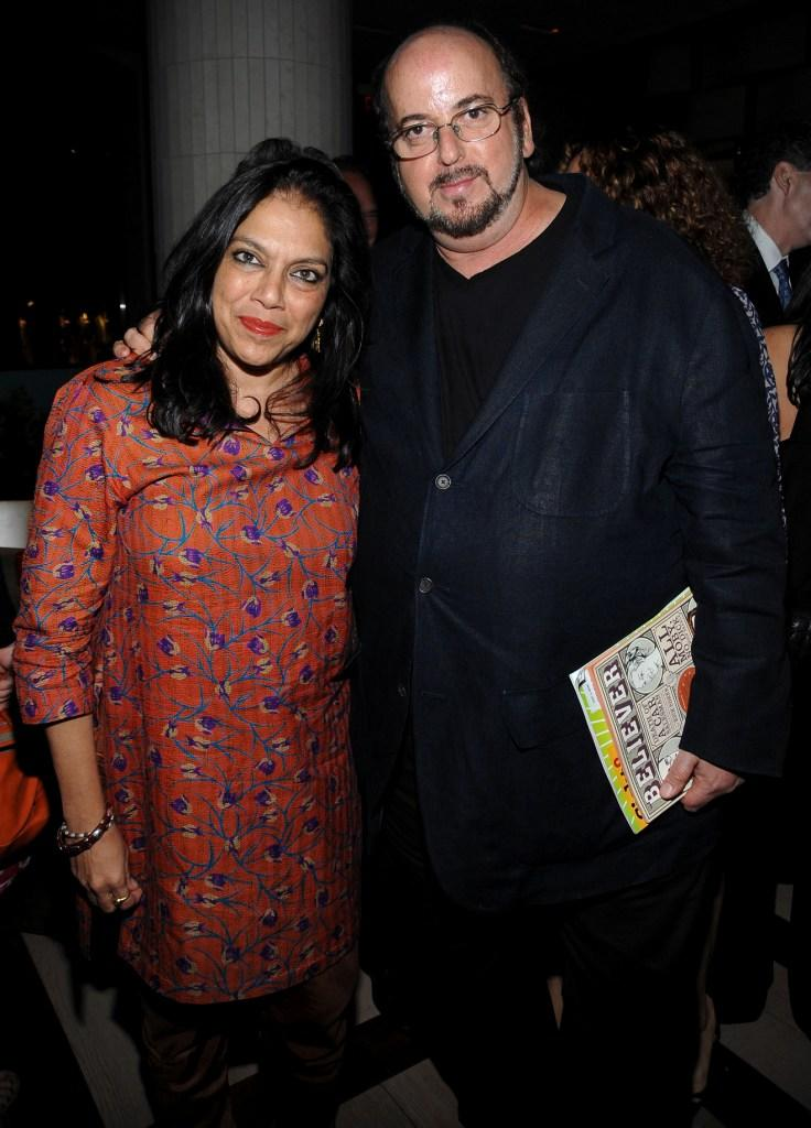 Mira Nair and James Toback at the after party of the premiere of