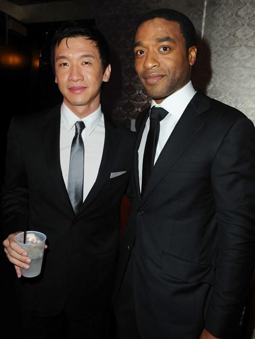 Chin Han and Chiwetel Ejiofor at the after party of the premiere of