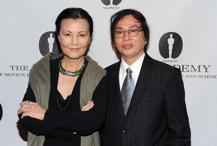 Kieu Chinh and Director Dang Nhat Minh at the Academy Of Motion Picture Arts And Science's Salute To Vietnamese Director Dang Nhat Minh in California.
