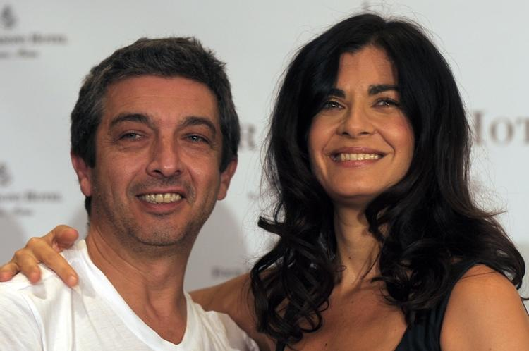 Ricardo Darin and Soledad Villamil at the press conference in Buenos Aires.