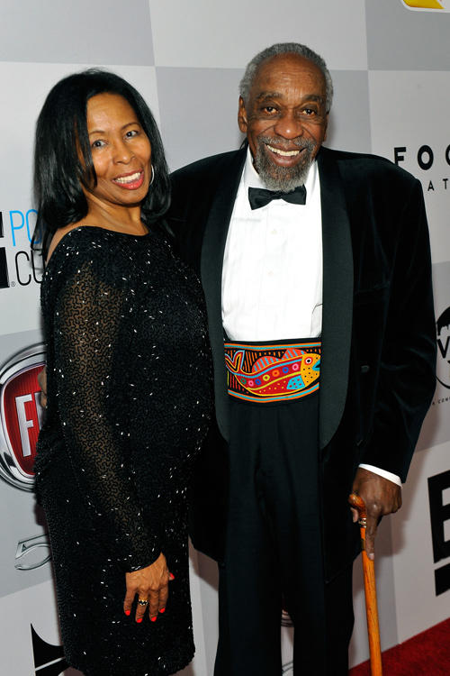 Carolyn Ray and Bill Cobbs at the NBCUniversal Golden Globes Viewing and After Party in California.