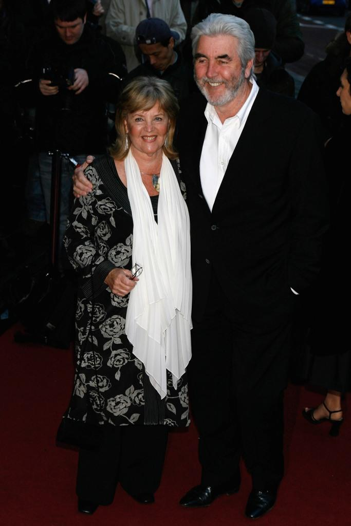 Pauline Collins and John Alderton at the Laurence Olivier Awards.