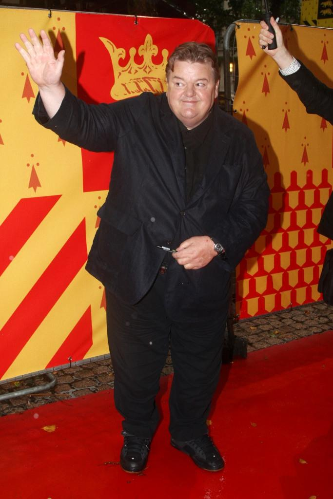 Robbie Coltrane at the London premiere of