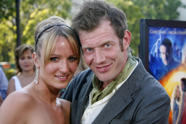 Jason Flemyng and guest at the