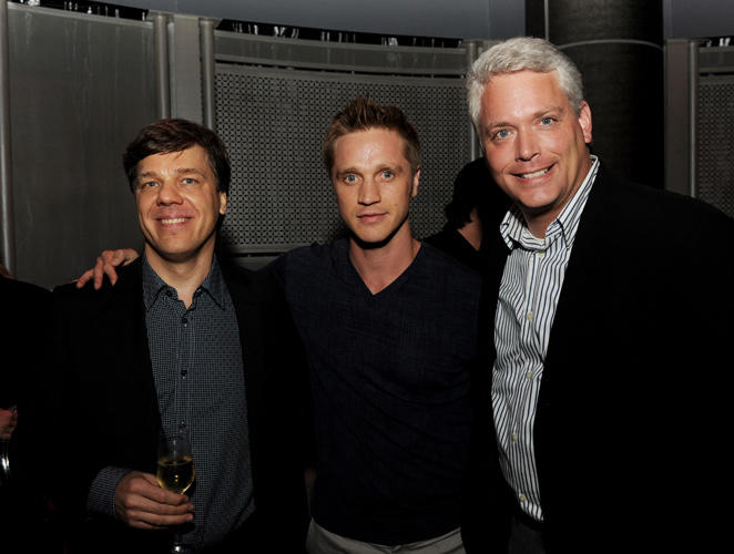 Director Steven Quale, Devon Sawa and producer Craig Perry at the after party of the screening of