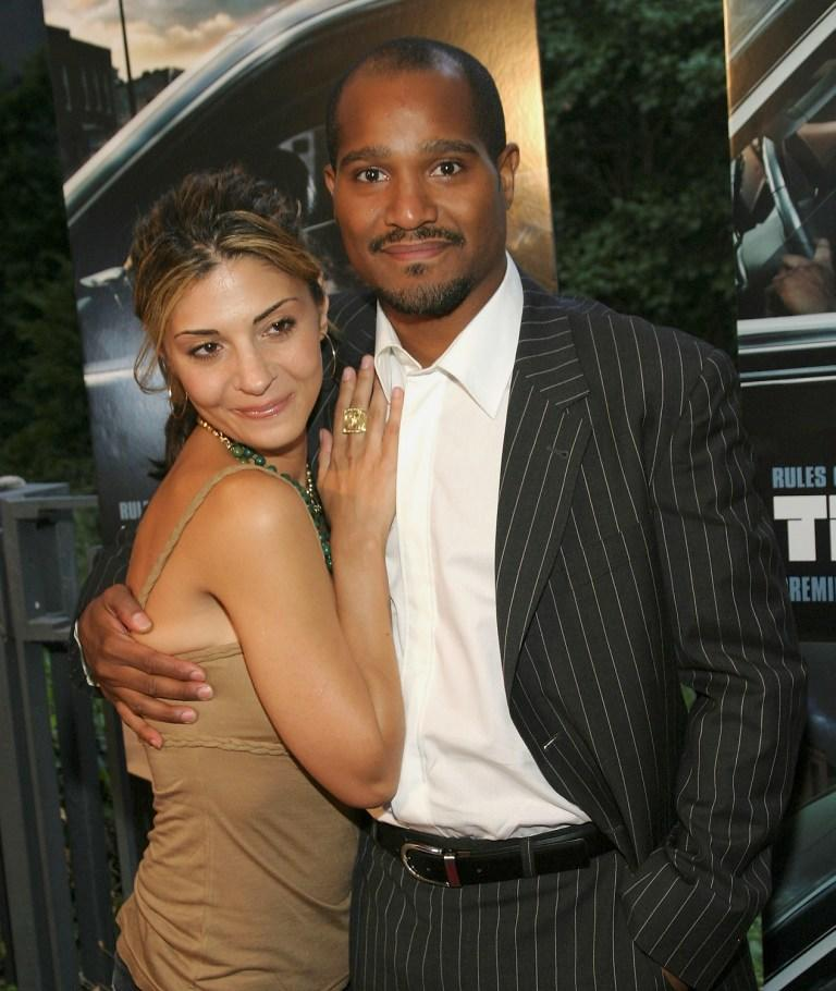 Callie Thorne and Seth Gilliam at the premiere of