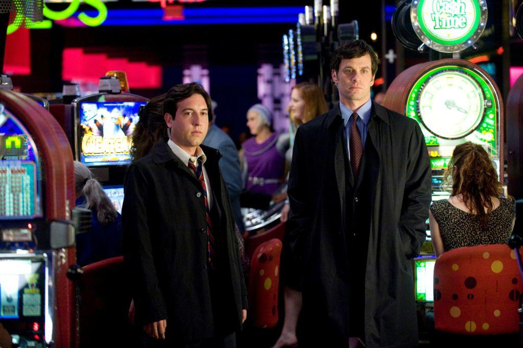Chris Marquette and Tom Everett Scott in