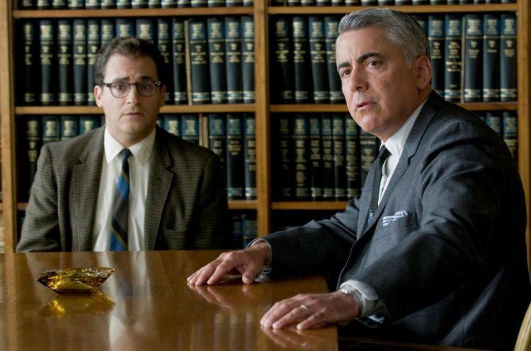 Michael Stuhlbarg as Larry Gopnik and Adam Arkin as Larry's divorce lawyer Don in