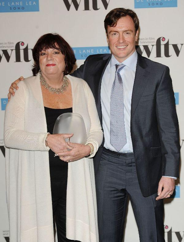 Dina Eaton and Toby Stephens at the Women In Film And TV Awards.