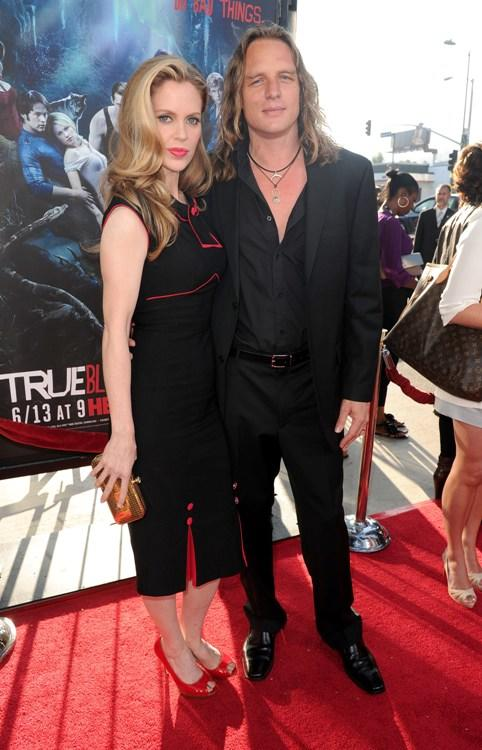 Kristin Bauer and Guest at the premiere of