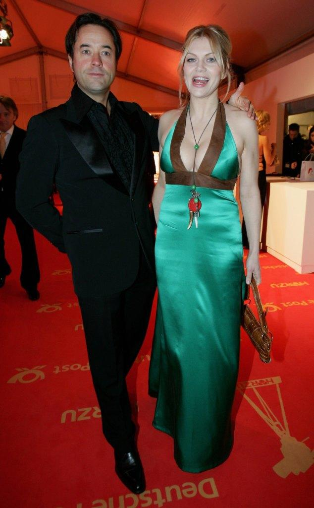 Jan Josef Liefers and Anna Loos Liefers at the Goldene Kamera Awards.