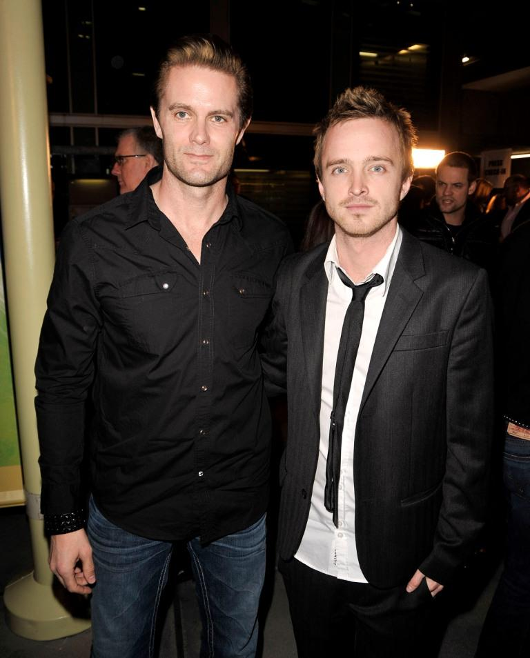 Garret Dillahunt and Aaron Paul at the premiere of