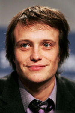 Actor August Diehl at a press conference for