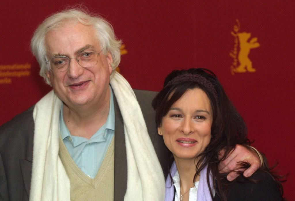 Director Bertrand Tavernier and Maria Pitarresi at the Berlinale Film Festival.