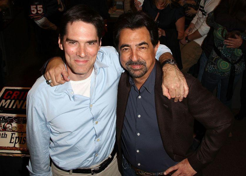 Thomas Gibson and Joe Mantegna at the 100th episode celebration for the television show