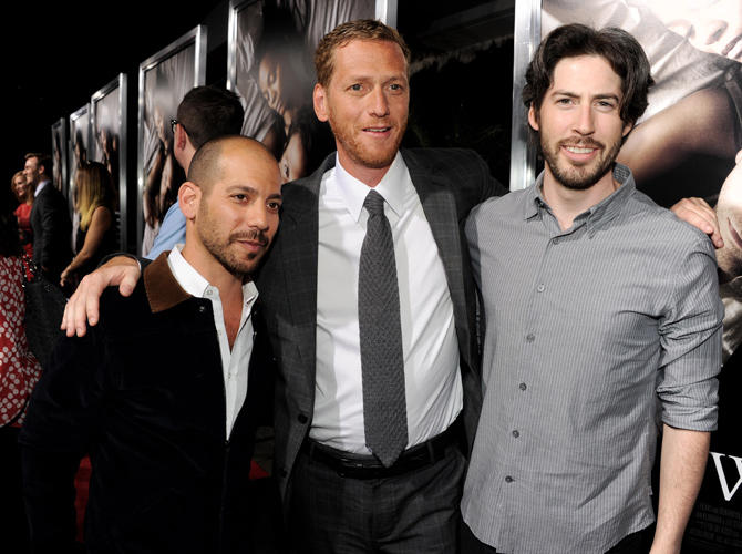 Lee Sternthal, Brian Klugman and director Jason Reitman at the California premiere of