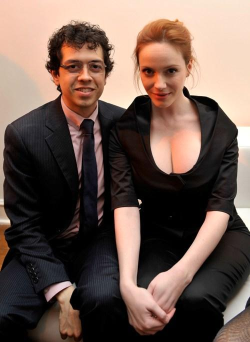 Geoffrey Arend and Christina Hendricks at the Kimberly Brooks