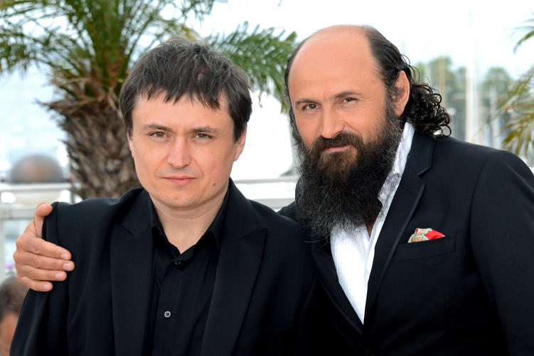 Director Cristian Mungiu and Valeriu Andriuta at the photocall of