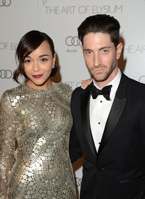 Ashley Madekwe and Iddo Goldberg at the Art of Elysium's 6th Annual HEAVEN Gala presented by Audi.