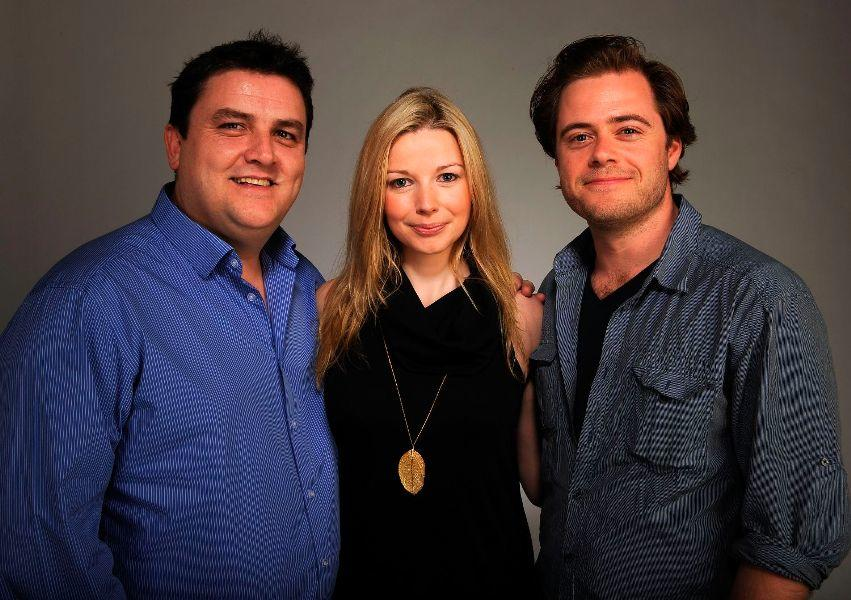 Simon Delaney, Janice Byrne and Rory Keenan at the Tribeca Film Festival 2010.