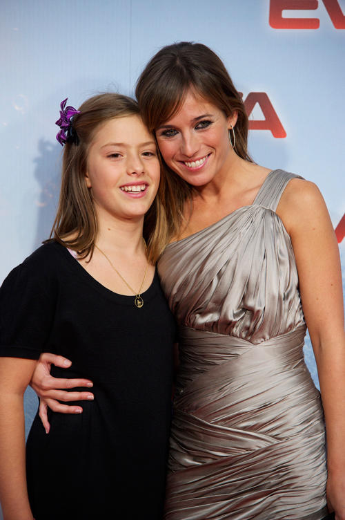 Claudia Vega and Marta Etura at the Madrid premiere of