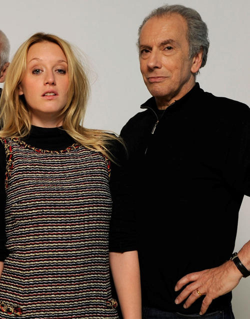Ludivine Sagnier and Raad Rawi at The Samsung Galaxy Tab Lift portrait session during the 2011 Sundance Film Festival.