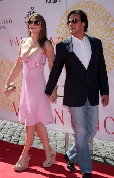 Elizabeth Hurley and Arun Nayar at the Valentino - Fall/Winter Haute Couture Fashion Show.