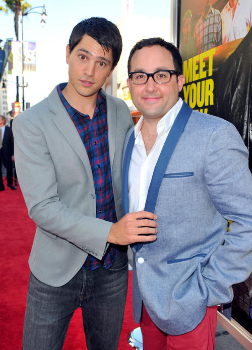 Nicholas D'Agosto and P.J. Byrne at the California premiere of