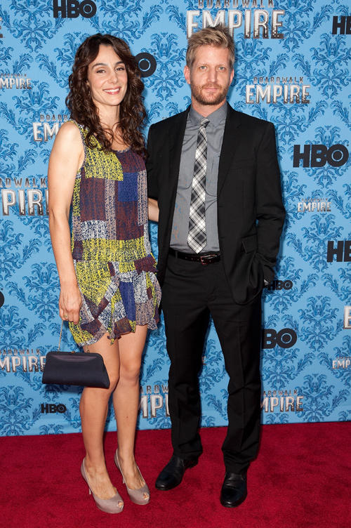 Annie Parisse and Paul Sparks at the Season 2 New York premiere of