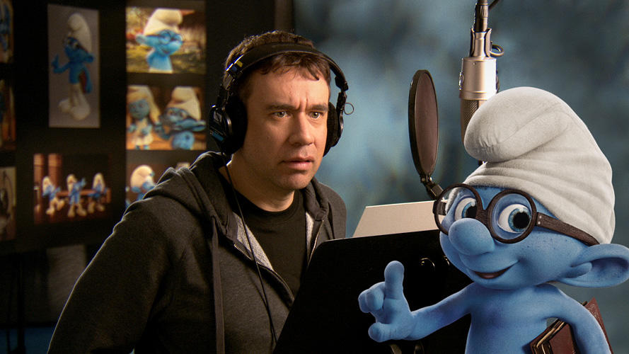 Fred Armisen on the set of