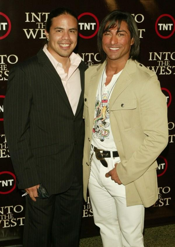 George Leach and Jay Tavare at the premiere of
