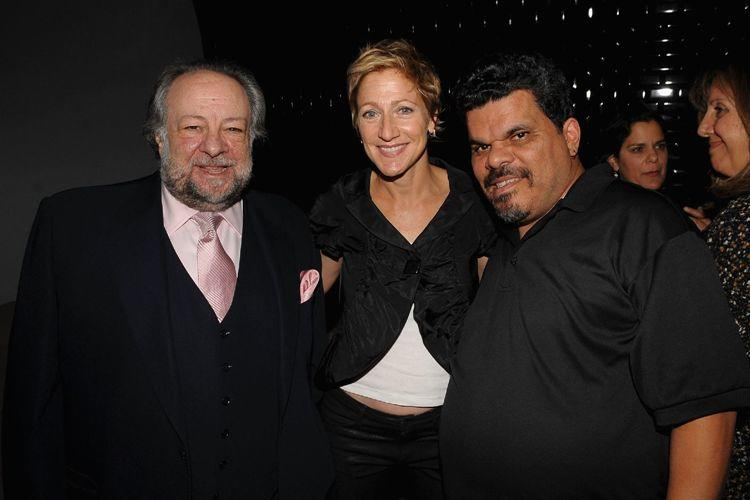 Ricky Jay, Edie Falco and Luis Guzman at the 2009 New Yorker Festival party in New York City.