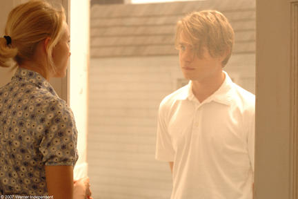 Naomi Watts as Anna and Brady Corbet as Peter in