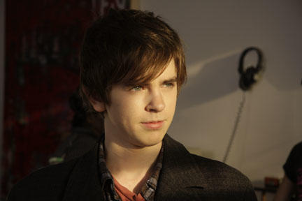 Freddie Highmore as George in ``The Art of Getting By.''