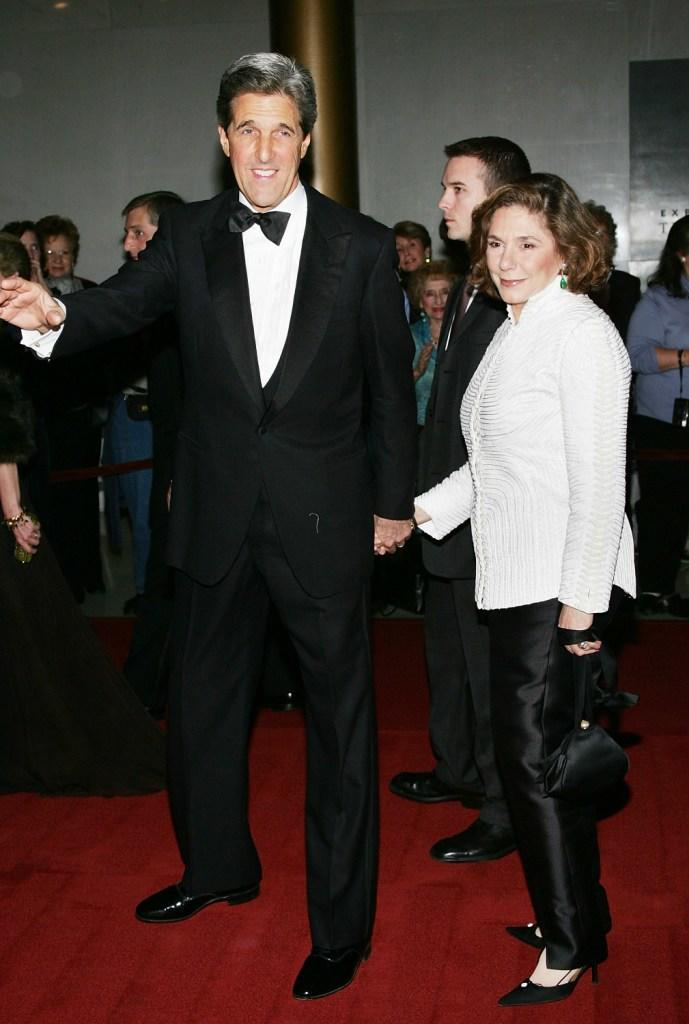 John Kerry and Teresa Heinz Kerry at the 27th Annual Kennedy Center Honors Gala.