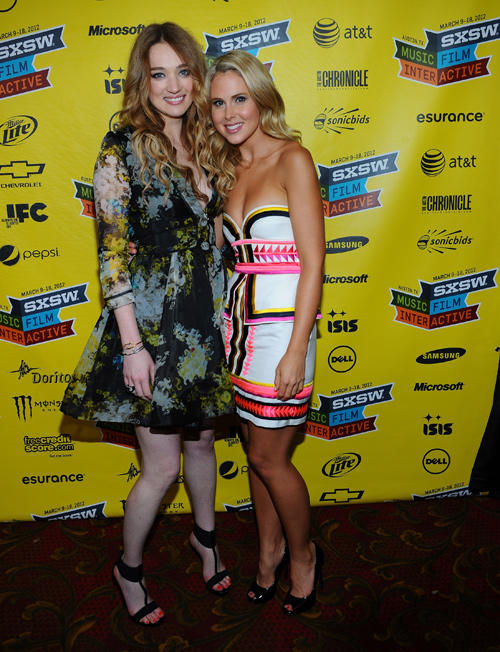 Kristen Connolly and Anna Hutchison at the World Premiere of