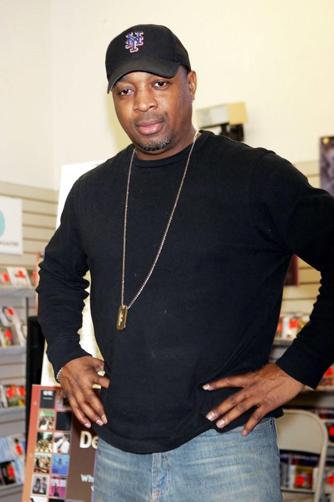 Chuck D at the press conference to celebrate the