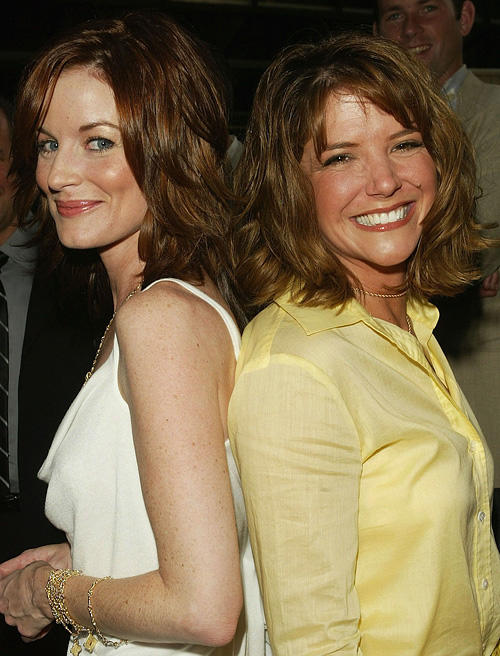 Laura Leighton and A.J. Langer at the ABC Network All-Star party.