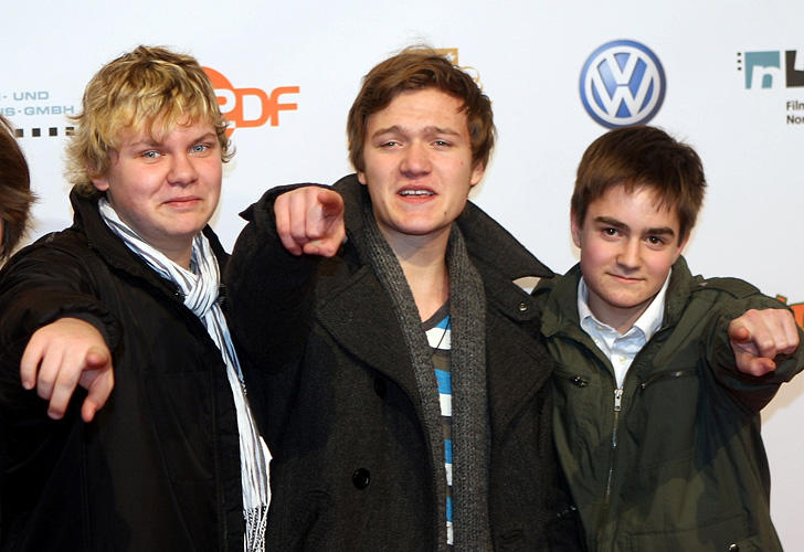 Philip Wiegratz, Vincent Redetzki and Martin Kurz at the premiere of