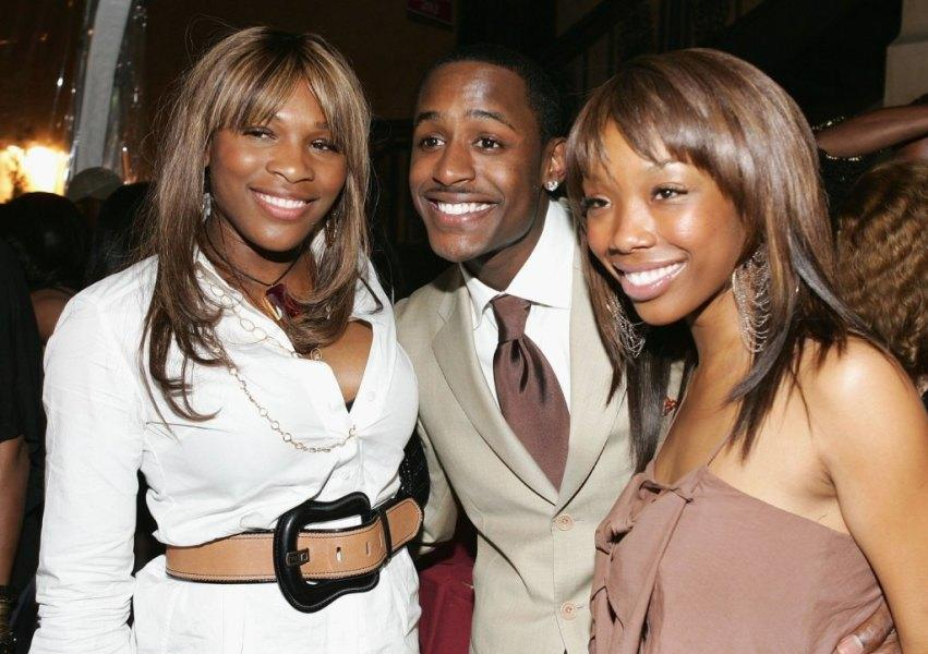 Serena Williams, Jackie Long and Brandy at the premiere of
