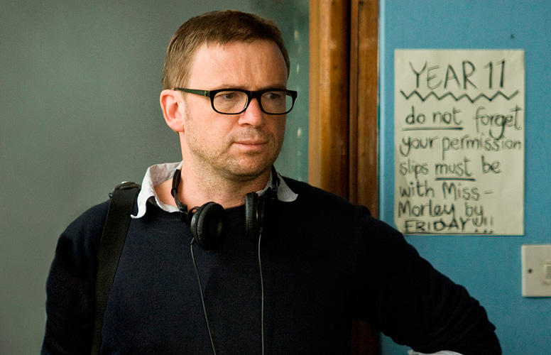 Screenwriter/Book Author David Nicholls on the set of
